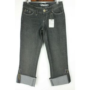 Lady Enyce Cropped Capri Jeans Distressed NWT
